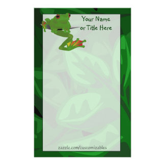 Tropical Frog Stationery