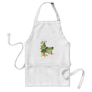 tropical frog vector design adult apron