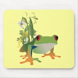 tropical frog vector design mousepads
