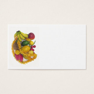 Tropical Fruit and Lei Business Card
