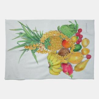Tropical Fruit and Lei Tea Towel