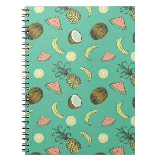 Tropical Fruit Doodle Pattern Notebook