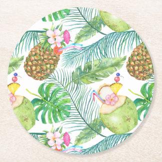 Tropical Fruit Drinks Coasters