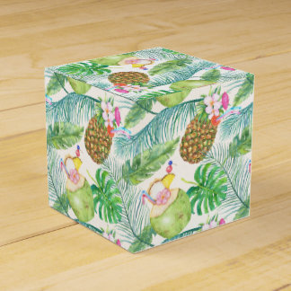 Tropical Fruit Drinks Favor Boxes