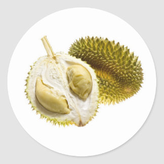Tropical fruit - Durian Classic Round Sticker