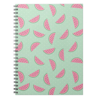 Tropical Fruit Paint Splatter Pattern Spiral Notebook