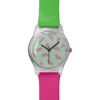 Tropical Fruit Paint Splatter Pattern Watch