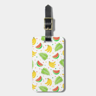 Tropical Fruit Polka Dot Pattern Luggage Tag