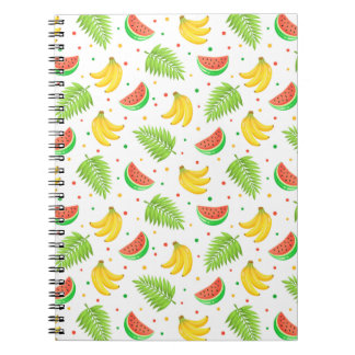 Tropical Fruit Polka Dot Pattern Notebook