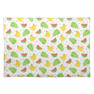 Tropical Fruit Polka Dot Pattern Placemat