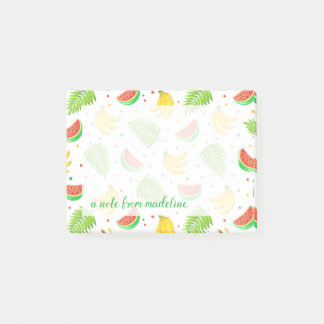 Tropical Fruit Polka Dot Pattern Post-it Notes