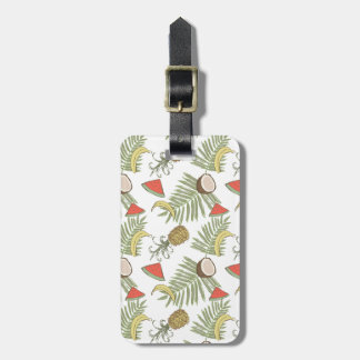 Tropical Fruit Sketch Pattern Luggage Tag