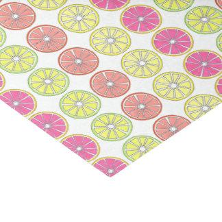 Tropical Fruit Slice Grapefruit Lemon Lime Orange Tissue Paper