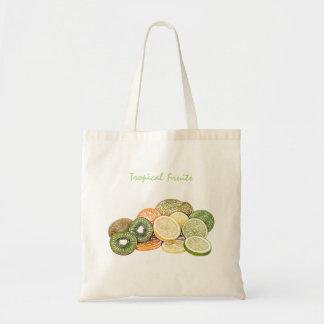 Tropical Fruits Budget Tote Bag