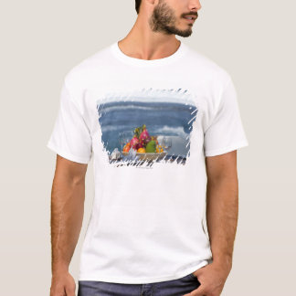 Tropical Fruits By The Ocean On Table 2 T-Shirt