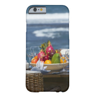 Tropical Fruits By The Ocean On Table Barely There iPhone 6 Case