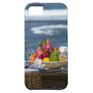 Tropical Fruits By The Ocean On Table iPhone 5 Case