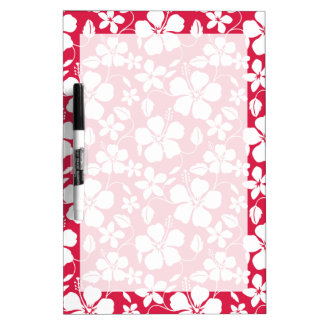 Tropical Fuschia Floral Pattern Dry-Erase Whiteboards