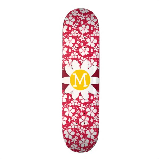 Tropical Fuschia Hibiscus; Daisy Skateboard Decks