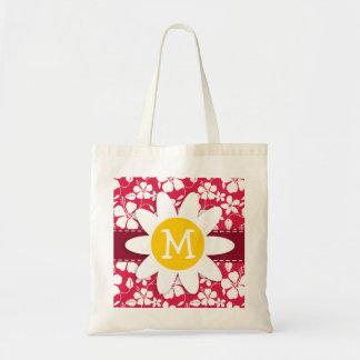 Tropical Fuschia Hibiscus; Daisy Tote Bag