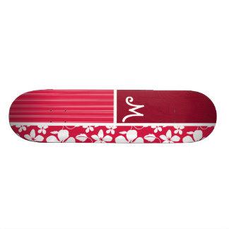 Tropical Fuschia Hibiscus Custom Skateboard