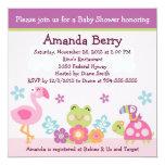 Tropical Garden/Animals Baby Shower Invitation