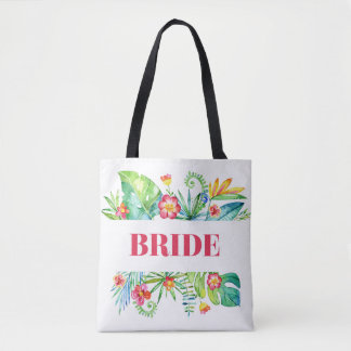 Tropical Garden | Bride Destination Wedding Tote Bag