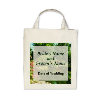 Tropical Garden by the Lake Wedding Products Canvas Bags