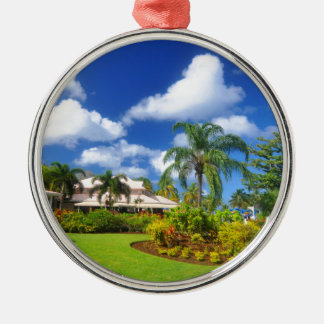 Tropical garden christmas ornament
