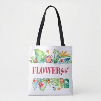 Tropical Garden | Flower Girl Destination Wedding Tote Bag