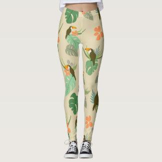 Tropical Garden Pattern Leggings