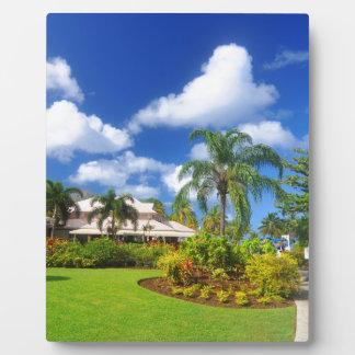 Tropical garden plaque