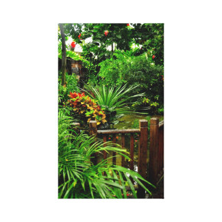 Tropical Garden Stretched Canvas Print