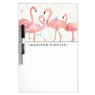 Tropical | Gathering of Flamingos Dry-Erase Board