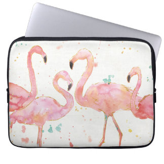 Tropical | Gathering of Flamingos Laptop Sleeve