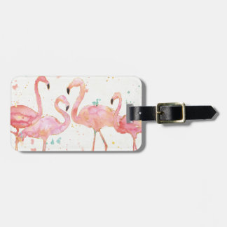 Tropical   Gathering of Flamingos Luggage Tag