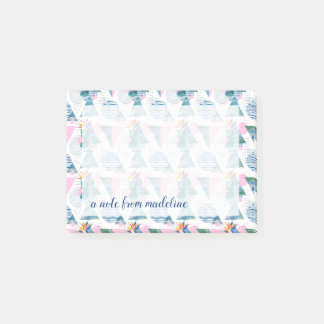 Tropical Geometric Pattern Post-it Notes