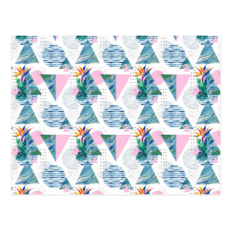 Tropical Geometric Pattern Postcard