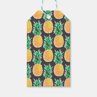 Tropical Geometric Pineapple Pattern Gift Tags