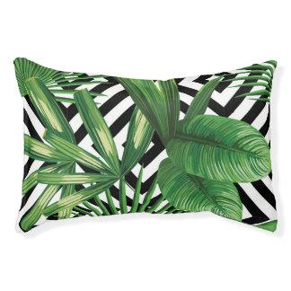 Tropical Geometric Print Dog Bed