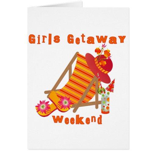 Tropical Girls Getaway Weekend Greeting Card