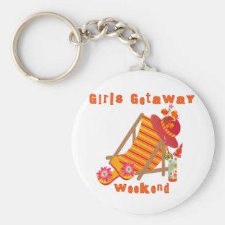 Tropical Girls Getaway Weekend Key Chains