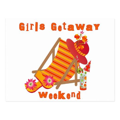 Tropical Girls Getaway Weekend Post Card