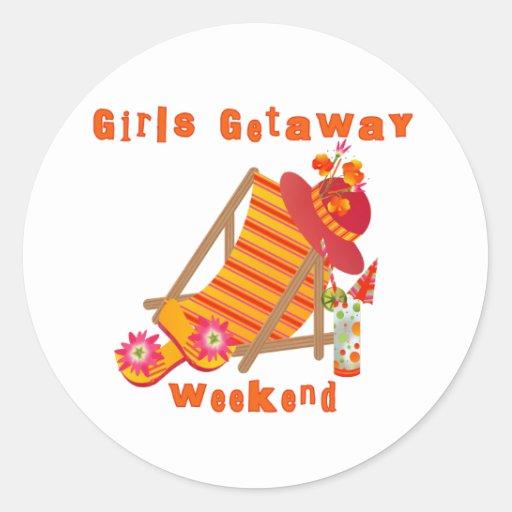 Tropical Girls Getaway Weekend Stickers