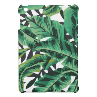 Tropical Glam Banana Leaf Pattern iPad Mini Cases