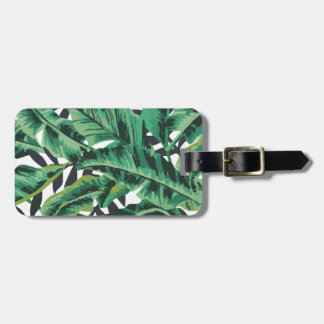 Tropical Glam Banana Leaf Pattern Luggage Tag