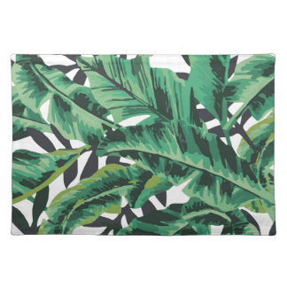 Tropical Glam Banana Leaf Pattern Placemat
