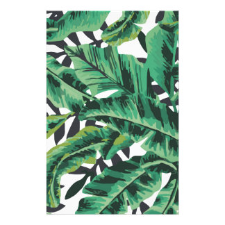 Tropical Glam Banana Leaf Pattern Stationery