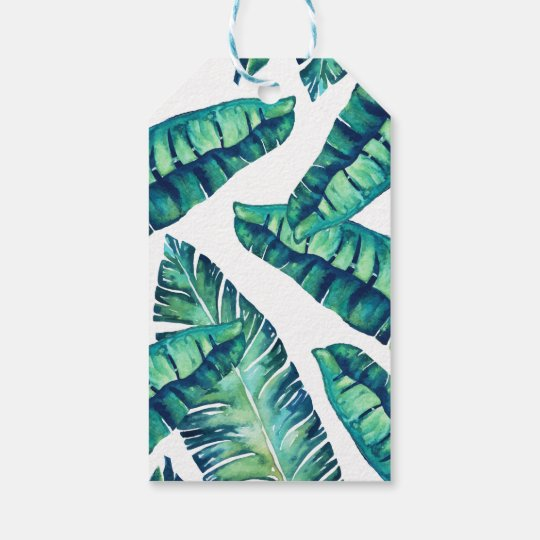 Tropical Glam gift tag
