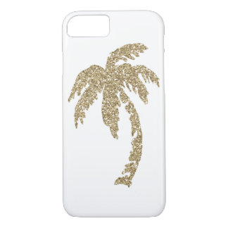 Tropical Glam Gold Palm Tree iPhone 7 Case